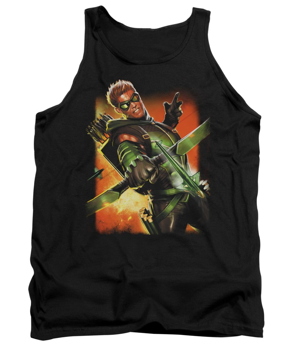 Justice League Of America Tank Top featuring the digital art Jla - Green Arrow #1 by Brand A