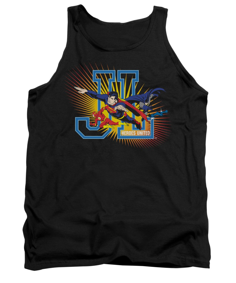 Justice League Of America Tank Top featuring the digital art Jla - Heroes United by Brand A