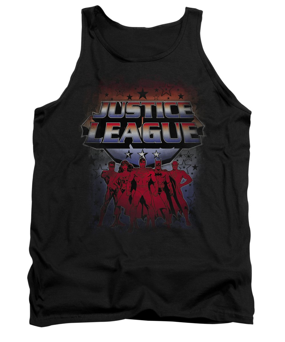 Justice League Of America Tank Top featuring the digital art Jla - Star League by Brand A