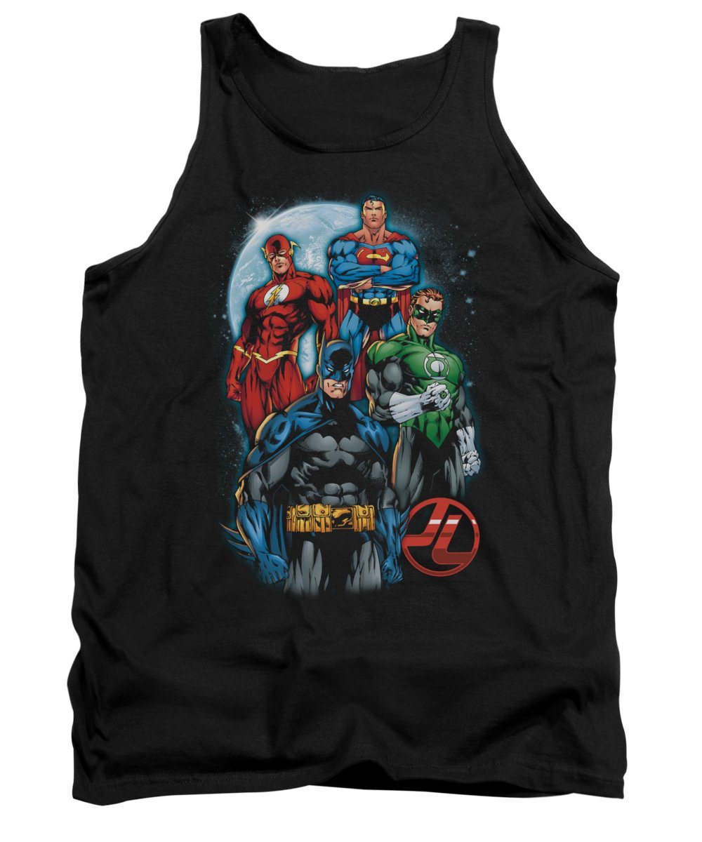 Justice League Of America Tank Top featuring the digital art Jla - The Four by Brand A