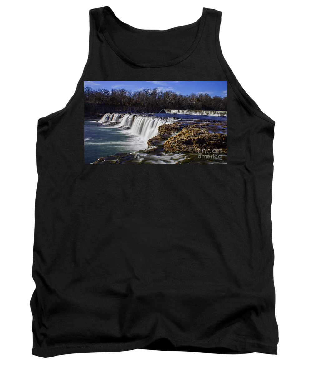 Adventure Tank Top featuring the photograph Joplin Grand Falls Overview by Jennifer White