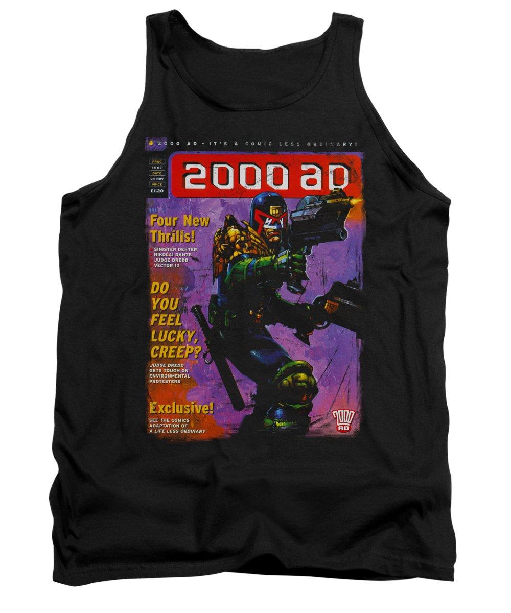Judge Dredd Tank Top featuring the digital art Judge Dredd - 1067 by Brand A