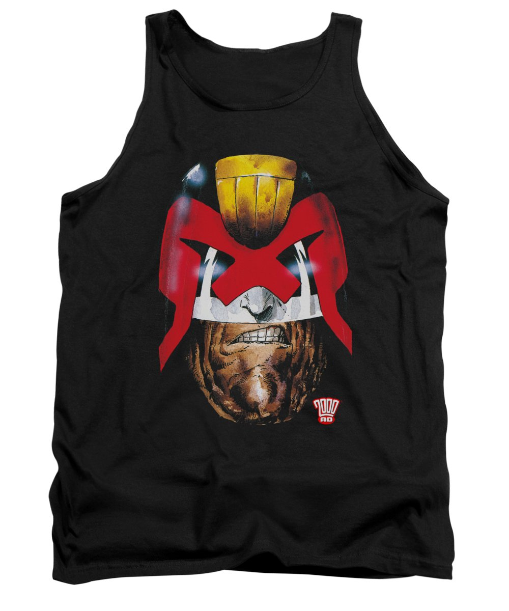 Judge Dredd Tank Top featuring the digital art Judge Dredd - Dredd's Head by Brand A