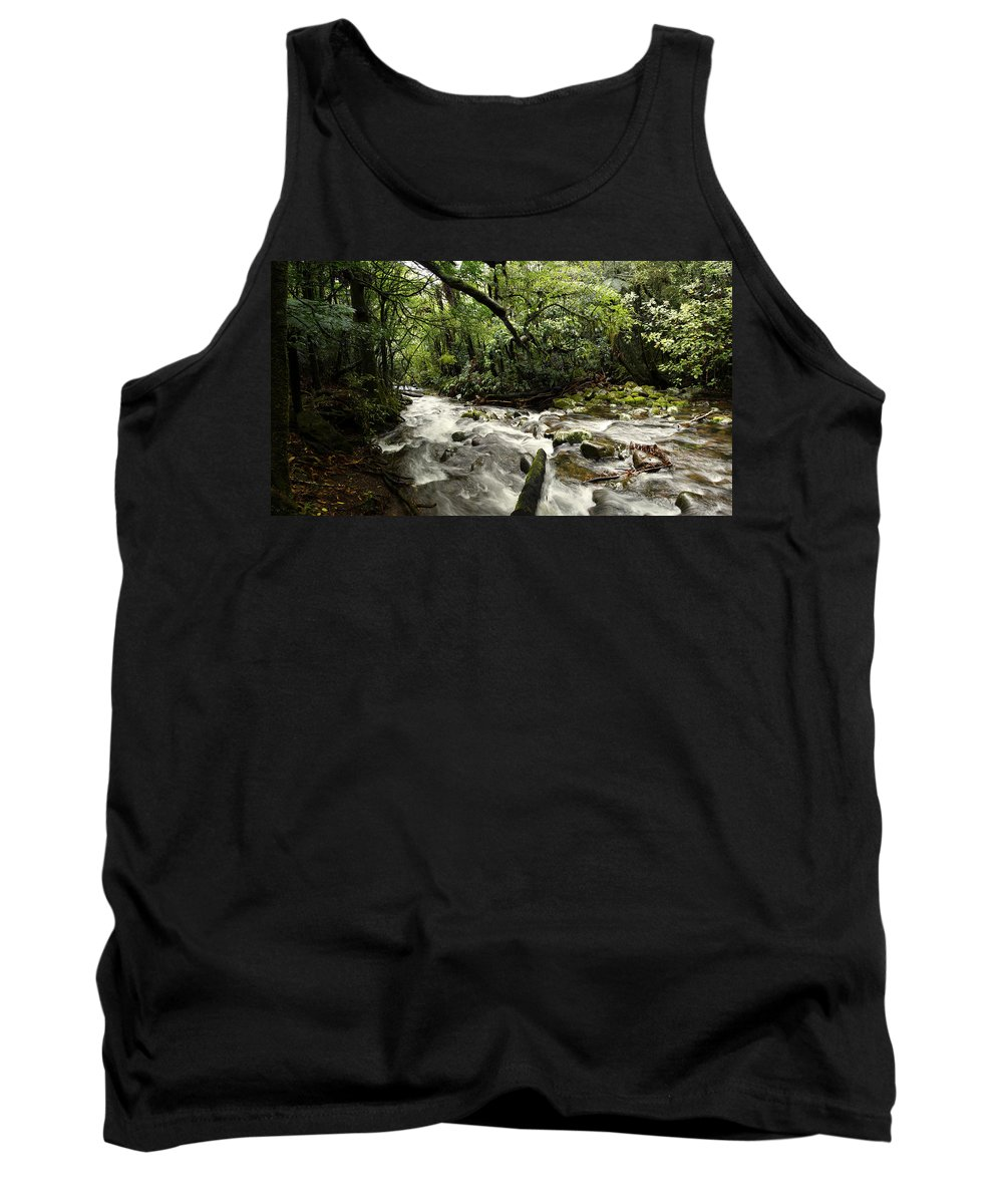 Water Tank Top featuring the photograph Jungle Flow by Les Cunliffe