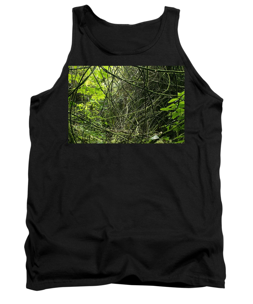Rain Forest Tank Top featuring the photograph Jungle Vines by Les Cunliffe