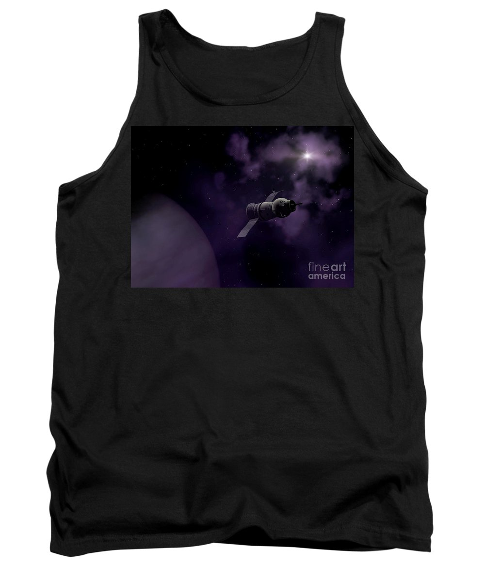 Space Tank Top featuring the digital art Jupitor One Exploration by Richard Rizzo