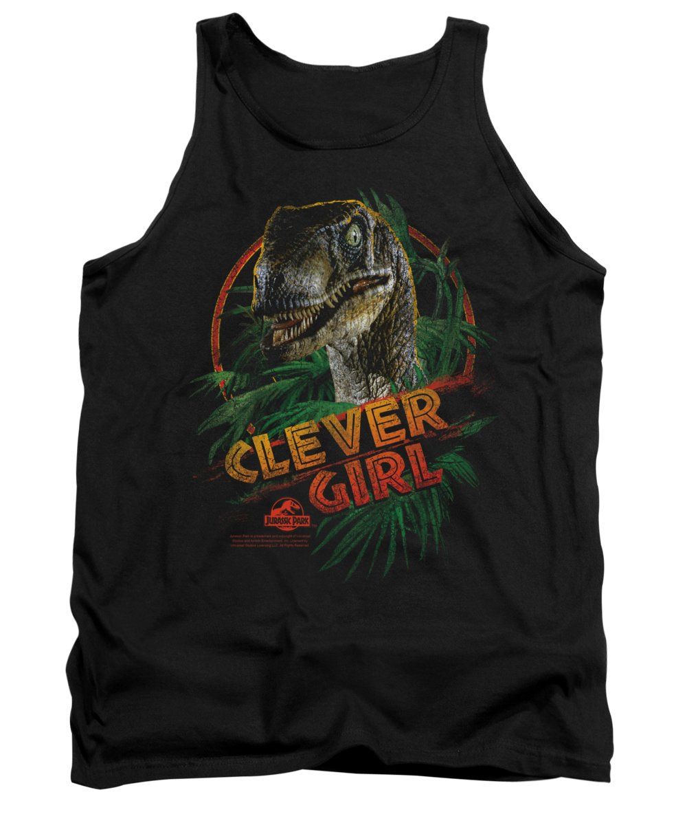 Jurassic Park Tank Top featuring the digital art Jurassic Park - Clever Girl by Brand A