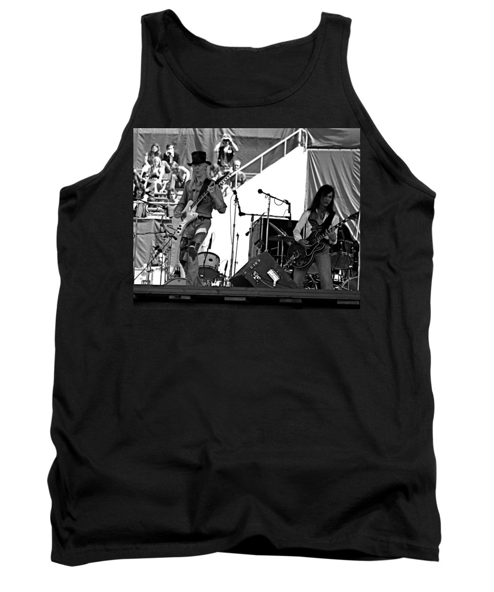 Johnny Winter Tank Top featuring the photograph Jwinter #19 Crop 2 by Ben Upham