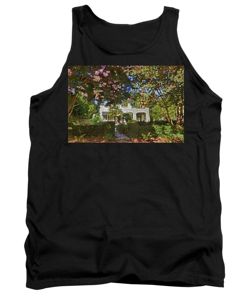 Home Portraits Tank Top featuring the digital art Keehan by Michael Thomas