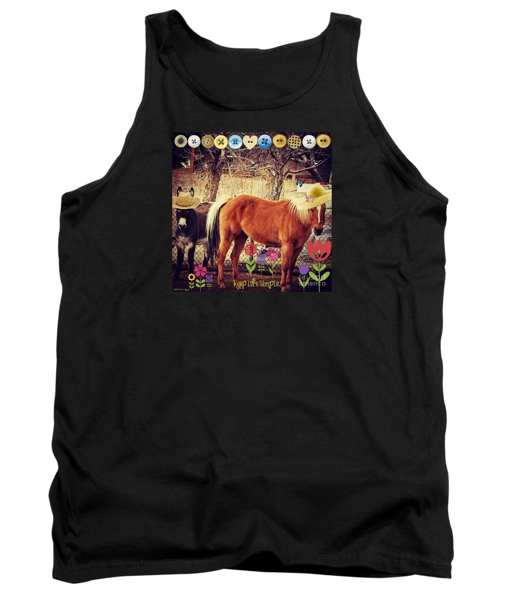Keep Life Simple Tank Top featuring the photograph Keep Life Simple by Bobbee Rickard