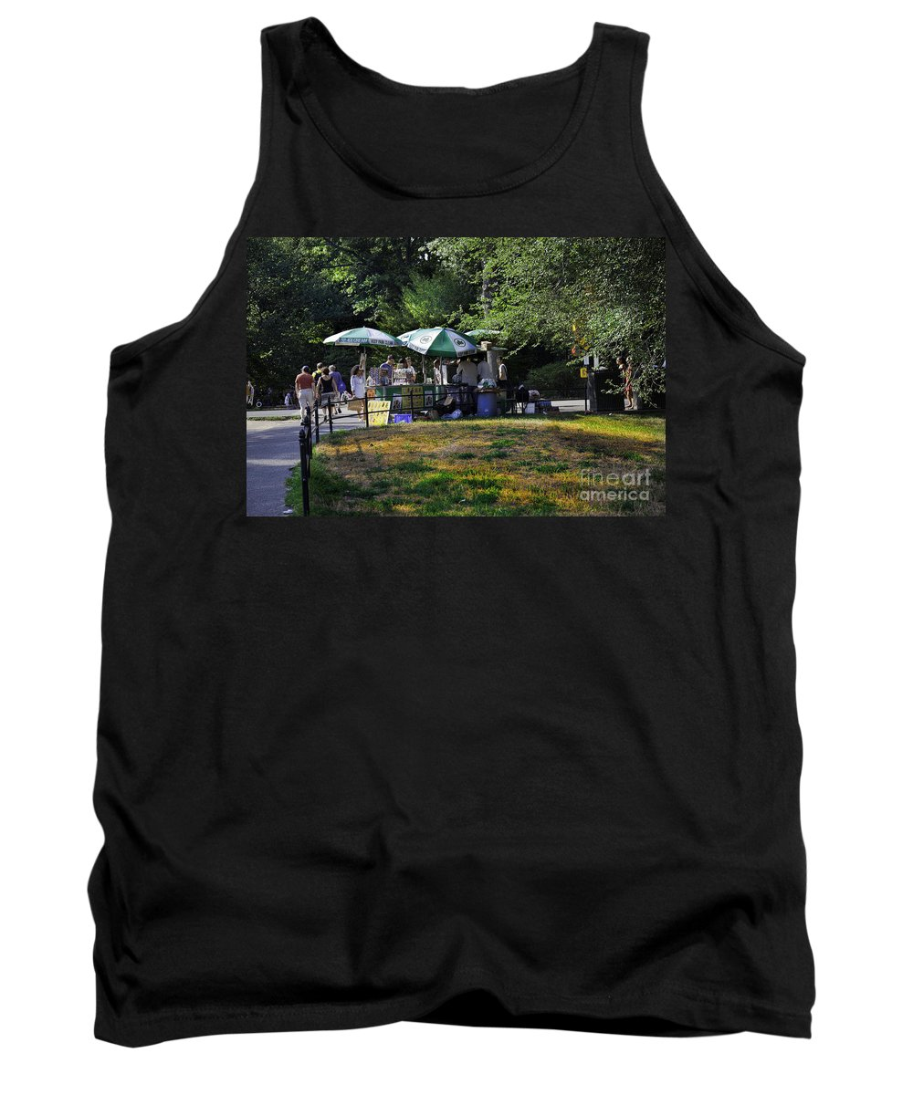 Central Park Tank Top featuring the photograph Keep Park Clean by Madeline Ellis