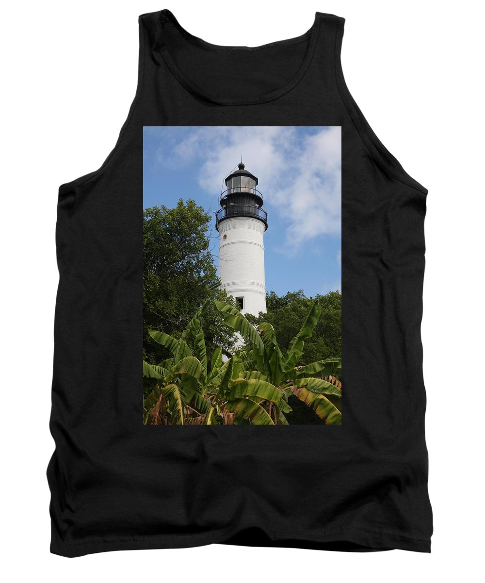 Ligthouse Tank Top featuring the photograph Key West Lighthouse by Christiane Schulze Art And Photography
