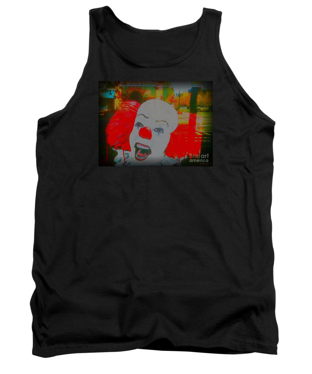 Tank Top featuring the photograph Killer Clowns In Fresco by Kelly Awad