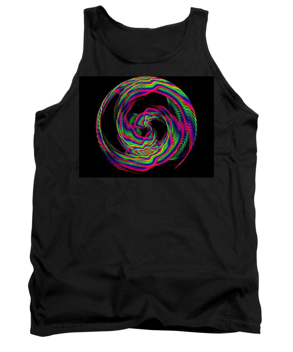 Abstract Tank Top featuring the digital art Kinetic Rainbow 36 by Tim Allen