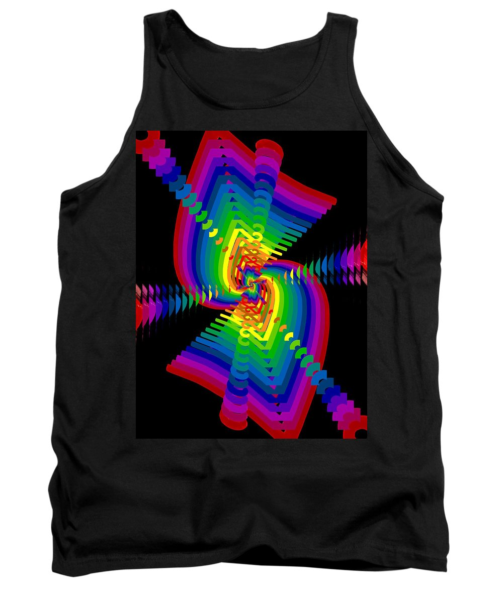Abstract Tank Top featuring the digital art Kinetic Rainbow 47 by Tim Allen
