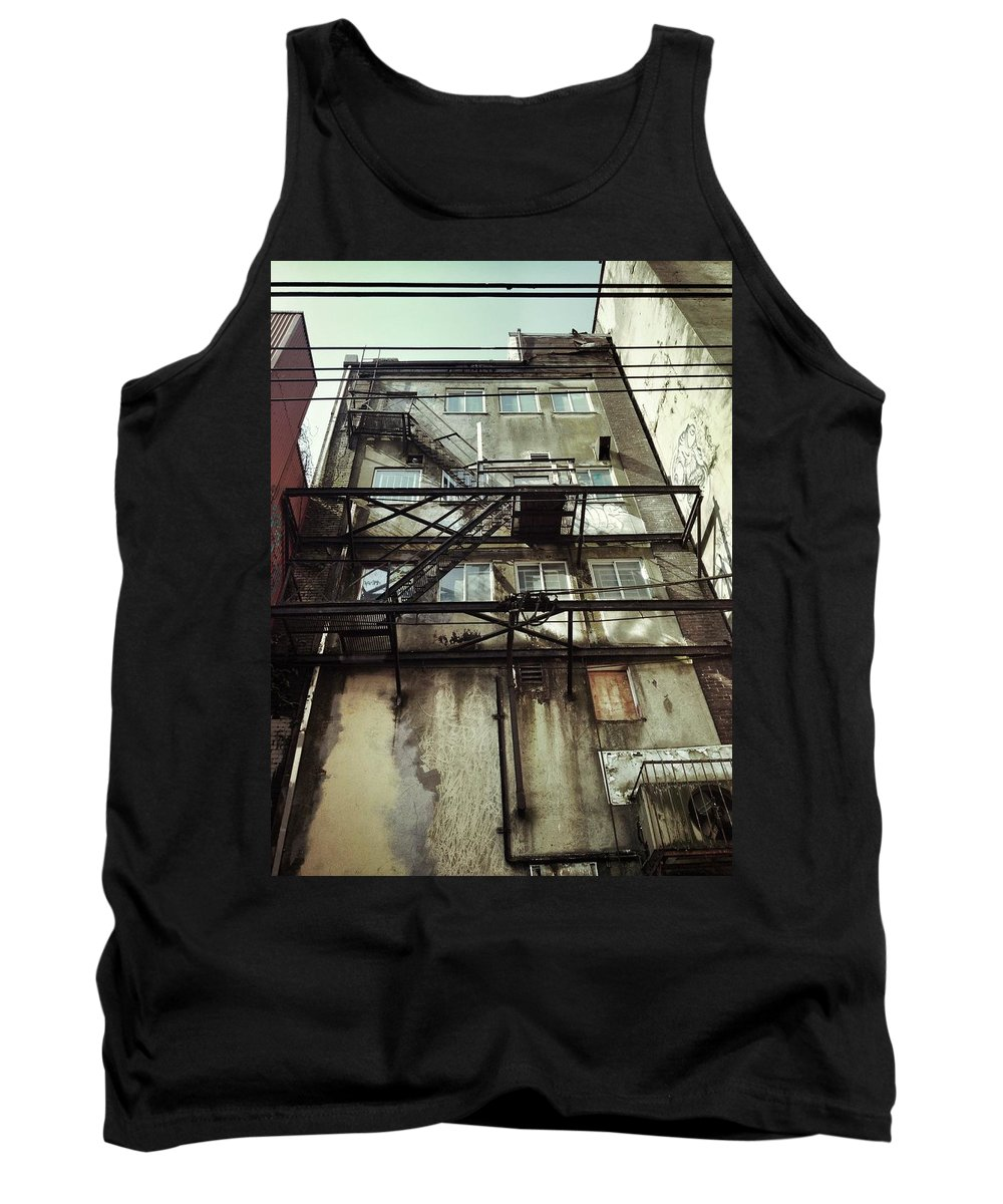 Street Photography Tank Top featuring the photograph Knee High Faults by The Artist Project