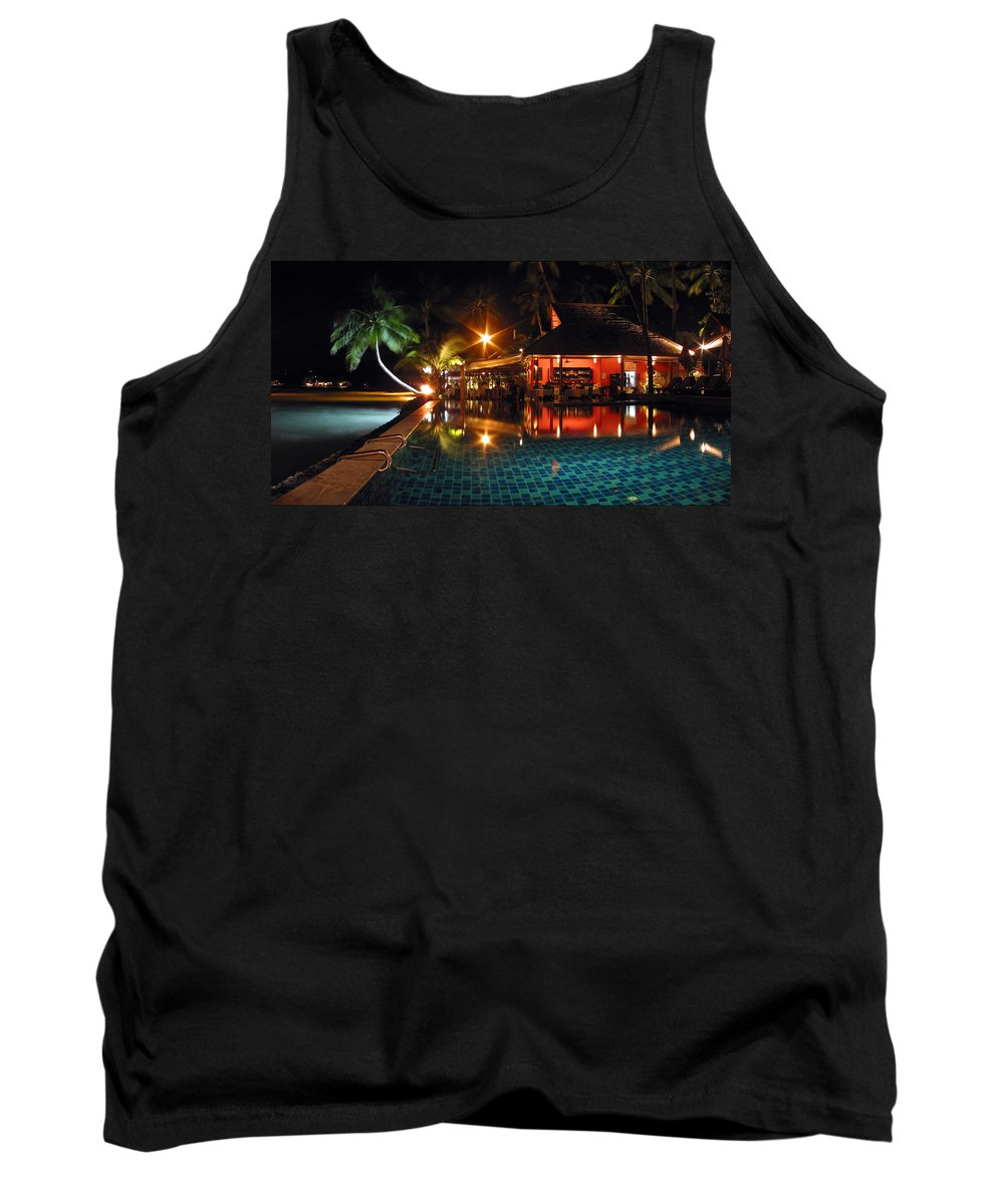 3scape Tank Top featuring the photograph Koh Samui Beach Resort by Adam Romanowicz