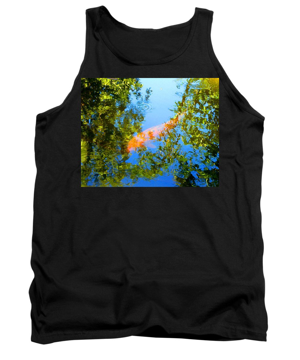 Animal Tank Top featuring the painting Koi Fish 3 by Amy Vangsgard