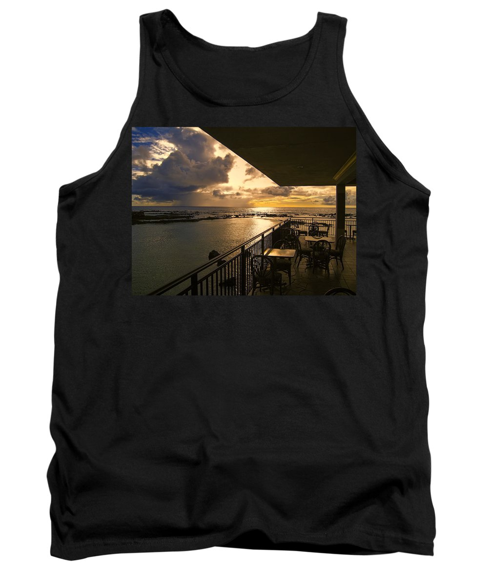 Lanai Tank Top featuring the photograph Kona Coast Lanai by Daniel Hagerman