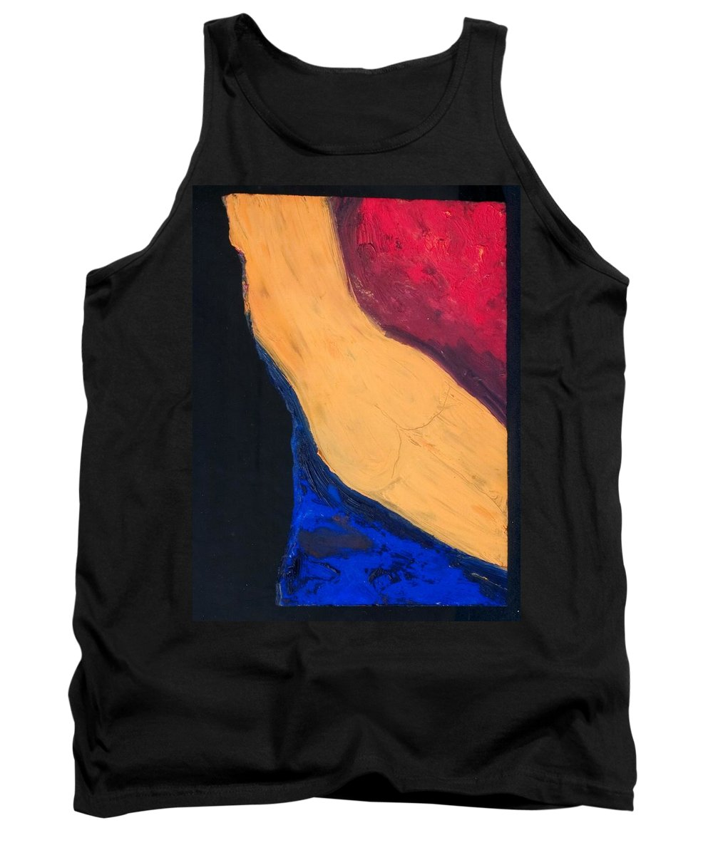 Nude Tank Top featuring the painting Krys In Color 2 by AA Pablo Solomon