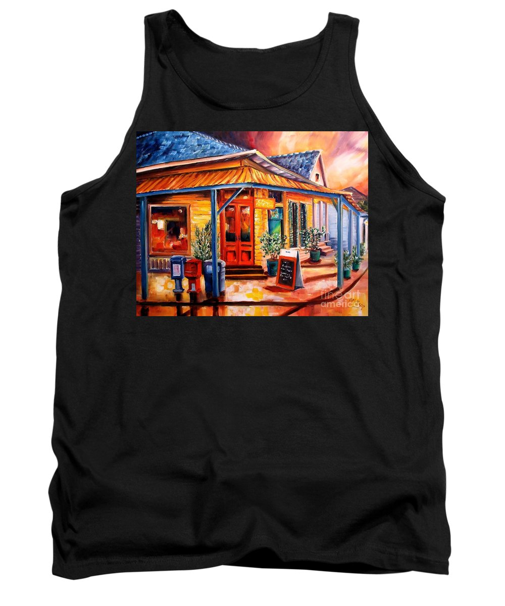 New Orleans Tank Top featuring the painting La Peniche In New Orleans by Diane Millsap