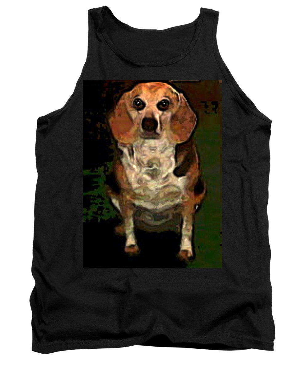 Dog Tank Top featuring the photograph Lady 9 by April Patterson