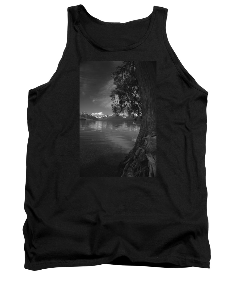 Lake Tank Top featuring the photograph Lake Mcdonald In The Spring by Larry Kjorvestad