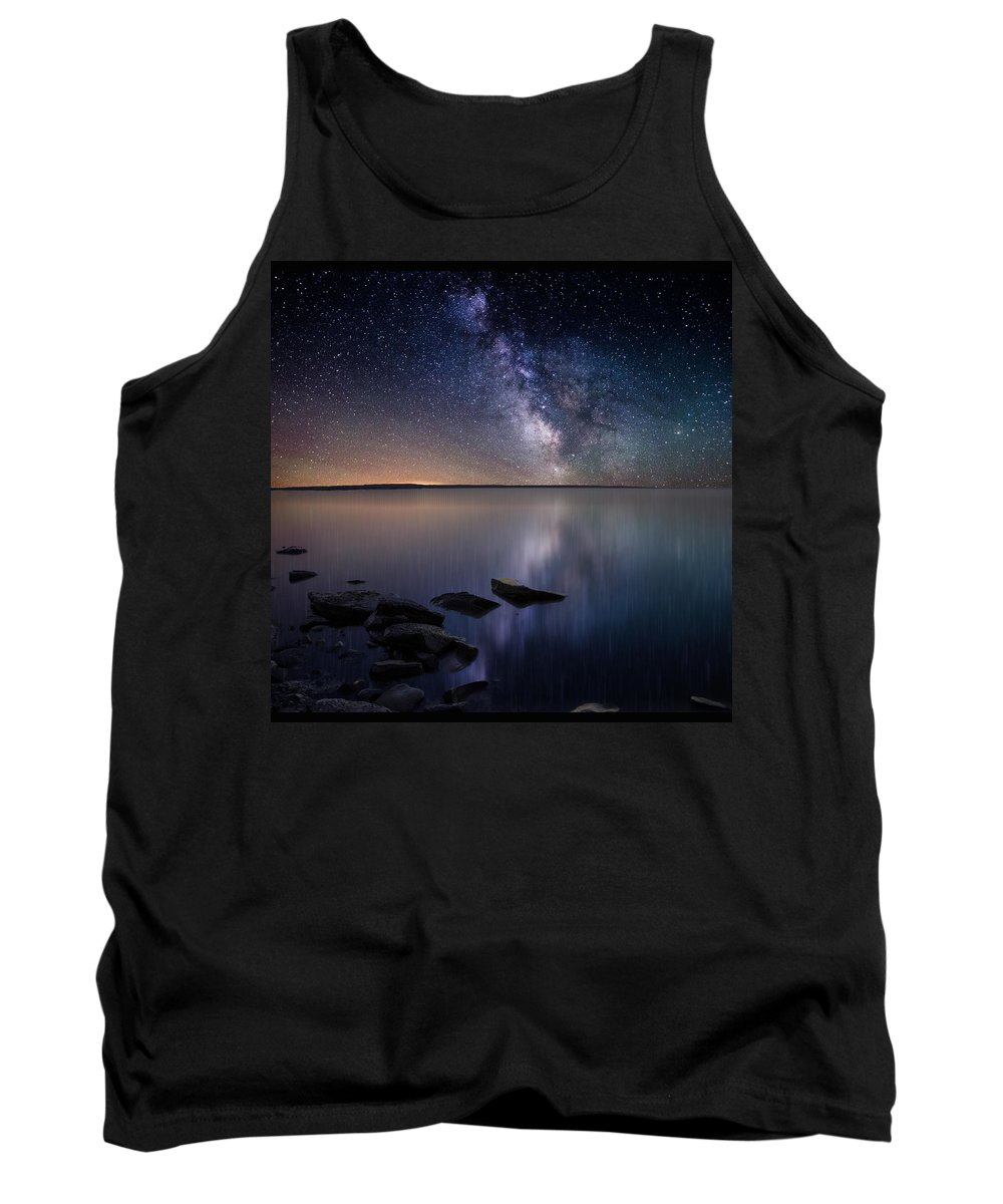 Stars Tank Top featuring the photograph Lake Oahe by Aaron J Groen