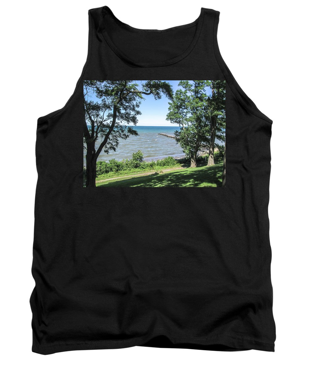 Lake Ontario Tank Top featuring the photograph Lake Ontario At Webster Park by Lou Cardinale