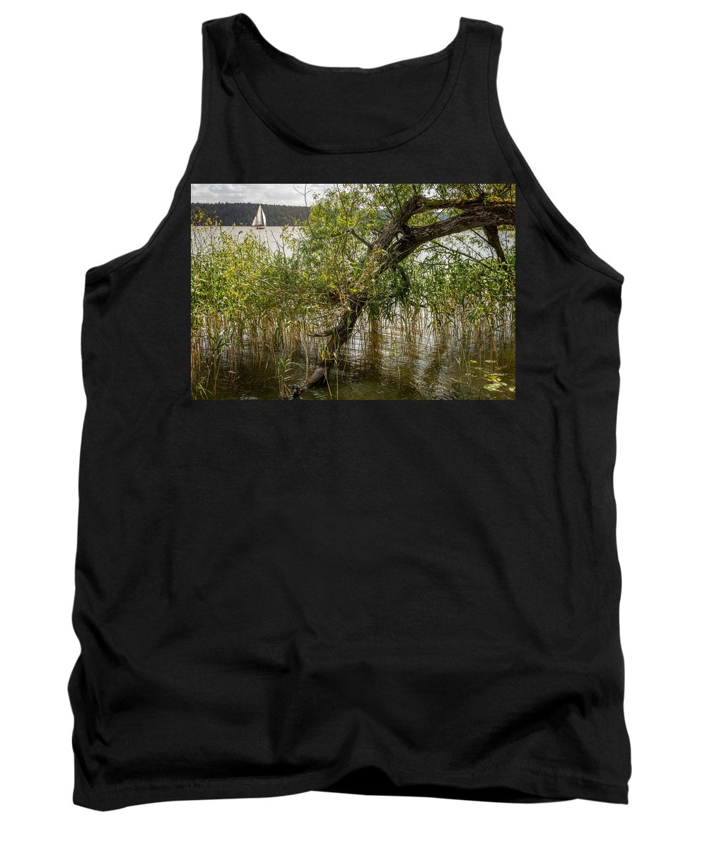Mikolajki Tank Top featuring the photograph Lake Tree by Pati Photography