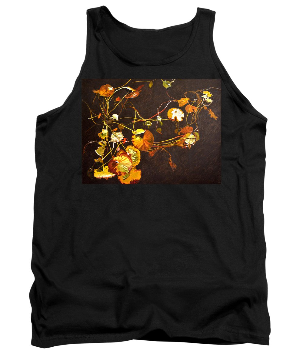Waterlily Tank Top featuring the painting Lake Washington Lily Pad 14 by Thu Nguyen