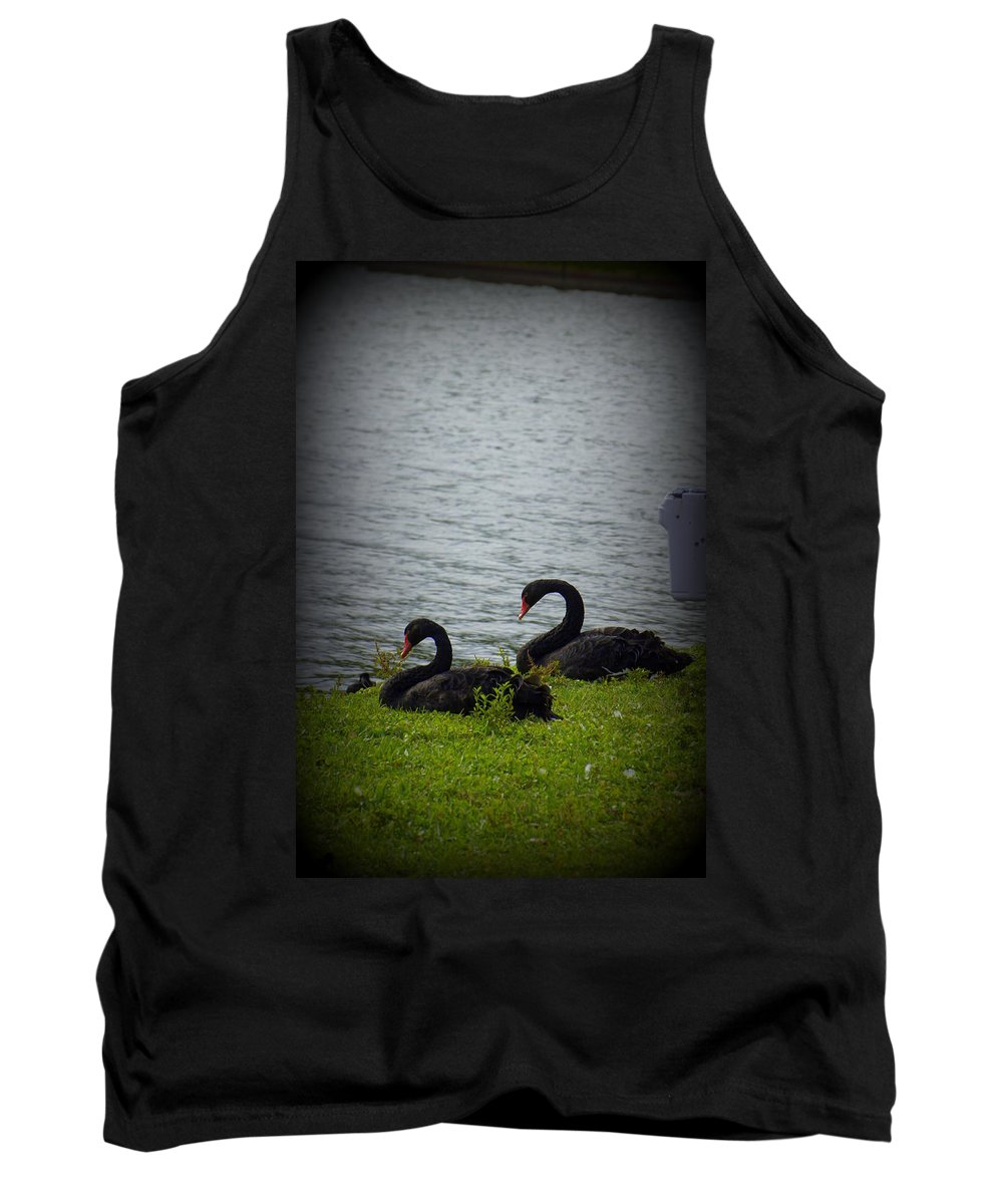 Swan Tank Top featuring the photograph Lakeland Treasures by Laurie Perry
