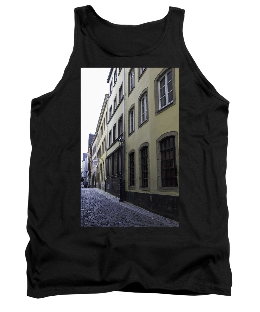 2014 Tank Top featuring the photograph Lamp Post In Cologne Germany Alley by Teresa Mucha