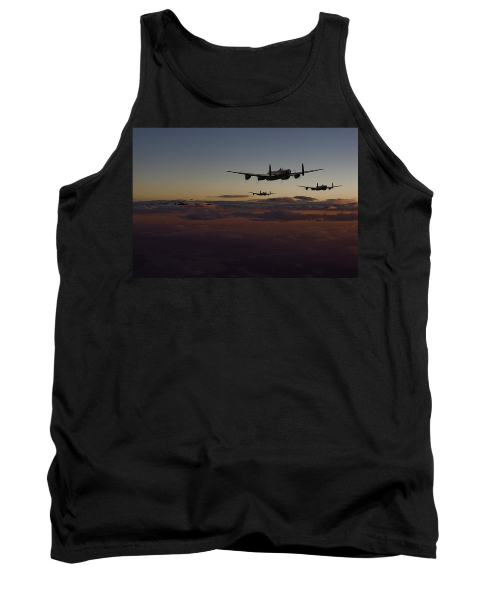Aircraft Tank Top featuring the digital art Lancaster -mainstream by Pat Speirs