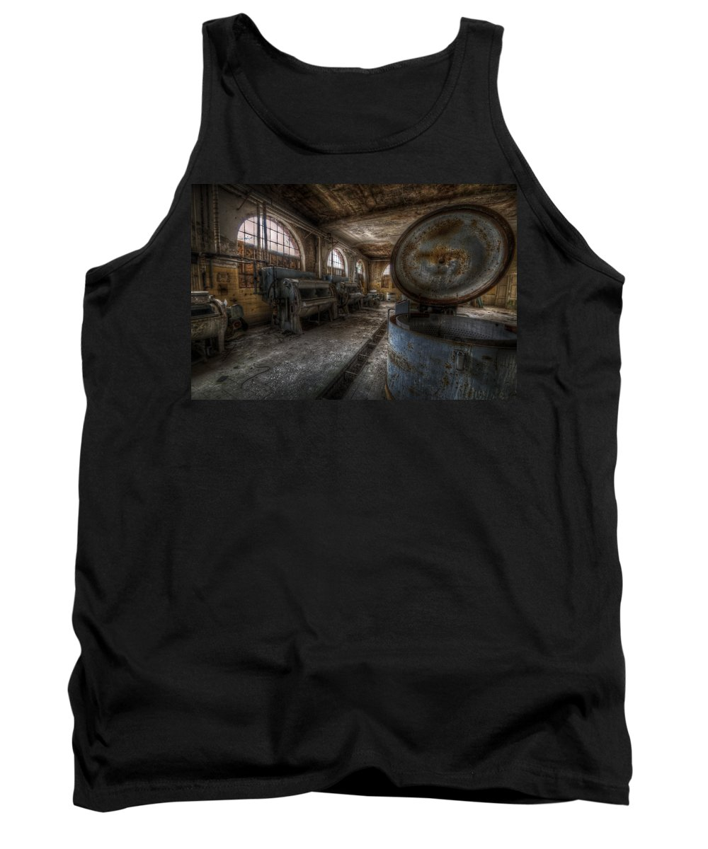 Hospital Tank Top featuring the digital art Laundry Room by Nathan Wright