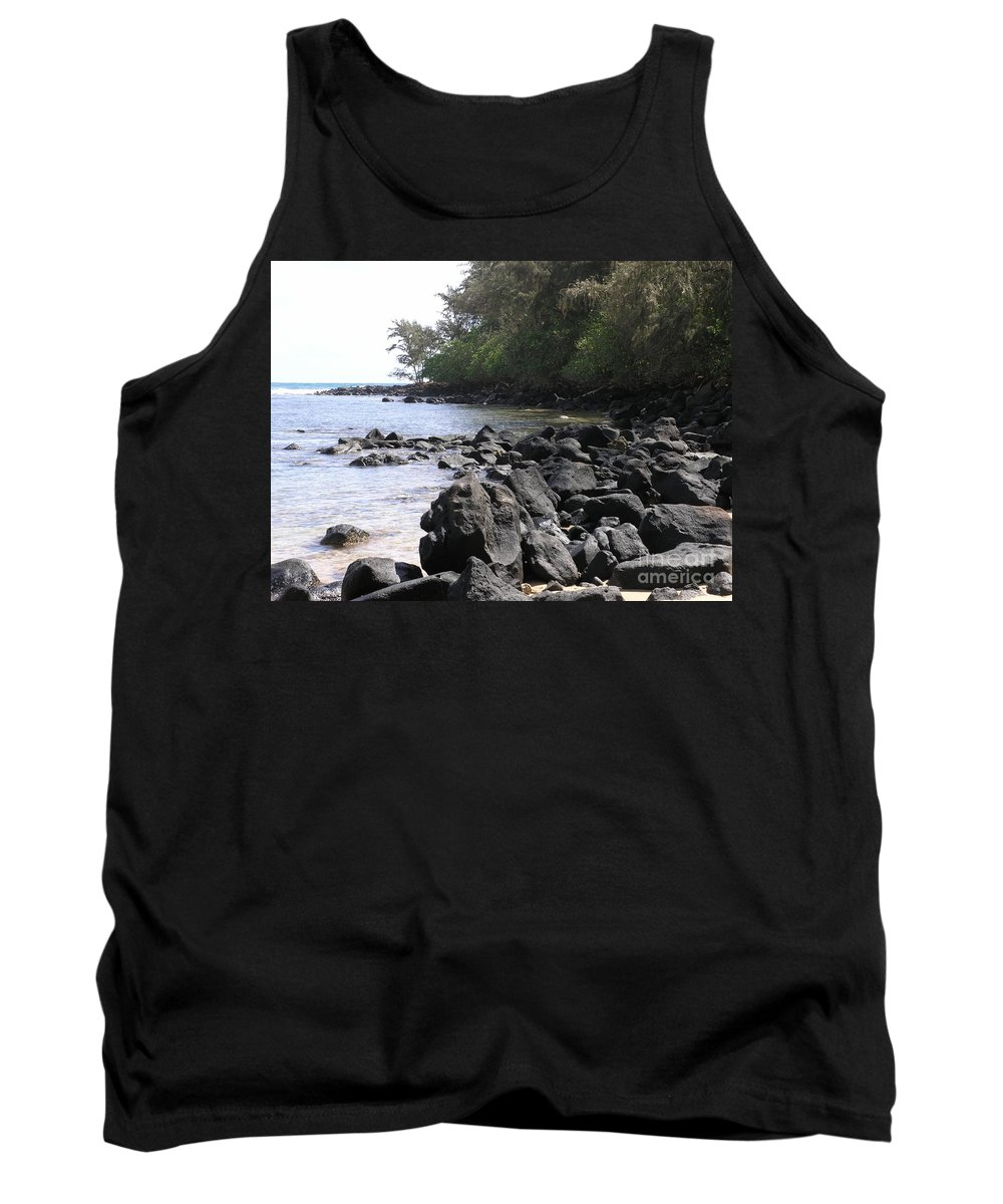 Ocean Tank Top featuring the photograph Lava Rocks by Mary Deal