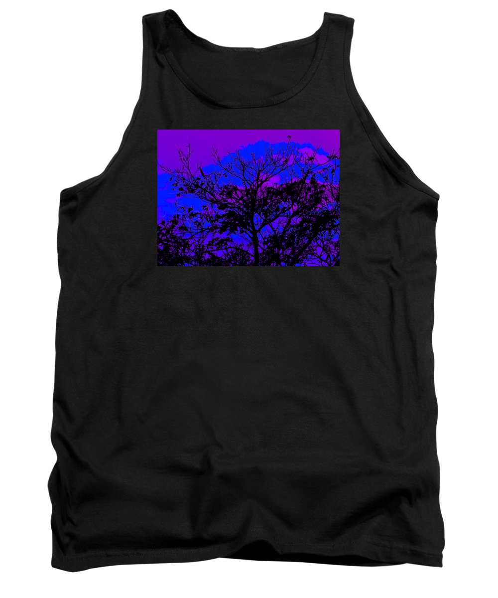 Landscape- Trees Tank Top featuring the photograph Lavenda Amor by Theresa Cummings
