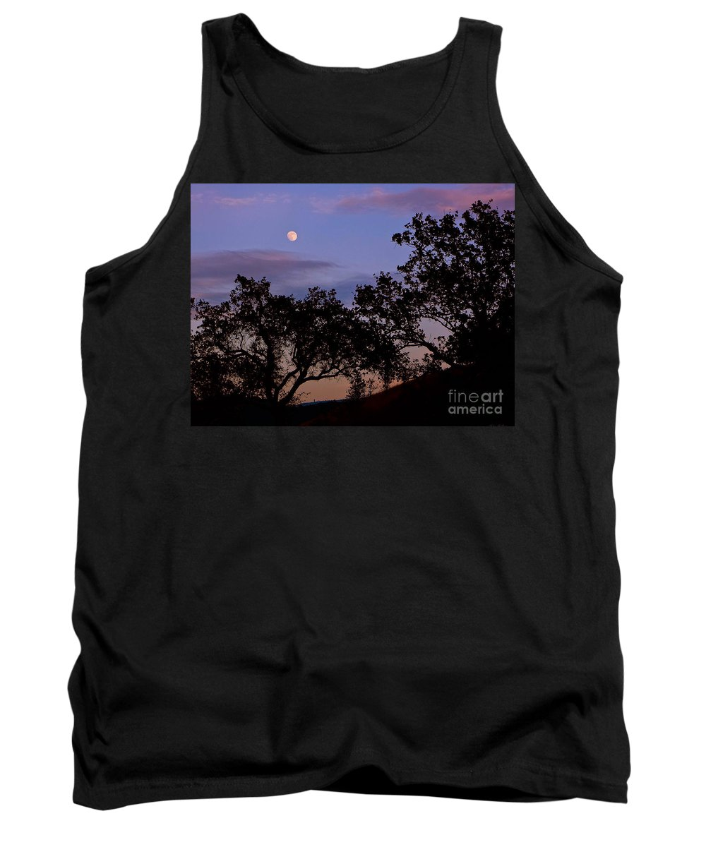 Moon Tank Top featuring the photograph Lavender Moon Twilight by Gem S Visionary