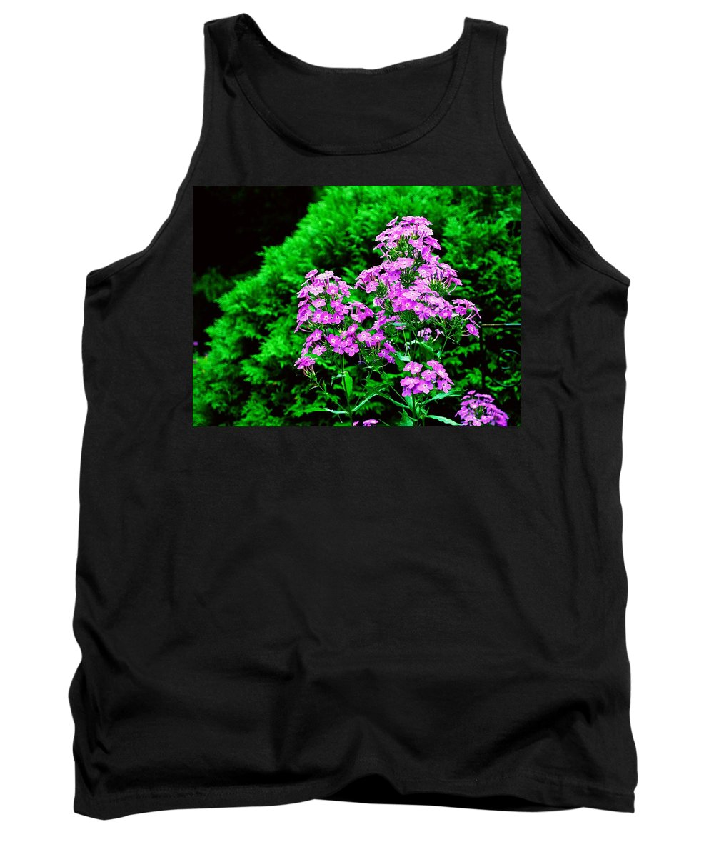 Flowers Tank Top featuring the photograph Lavender Pansies by Gary Wonning