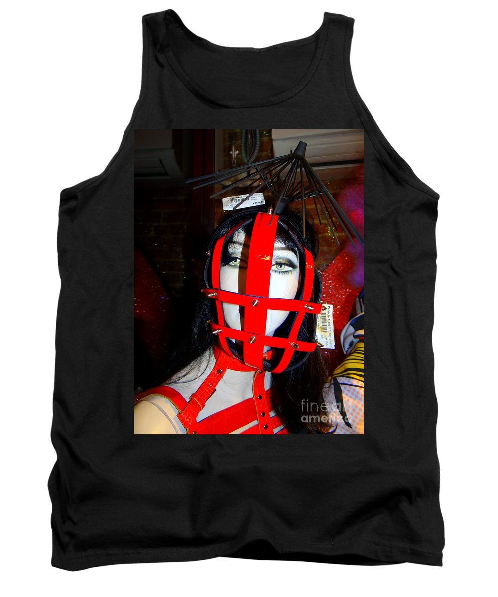 Mannequins Tank Top featuring the photograph Leather Lattice by Ed Weidman