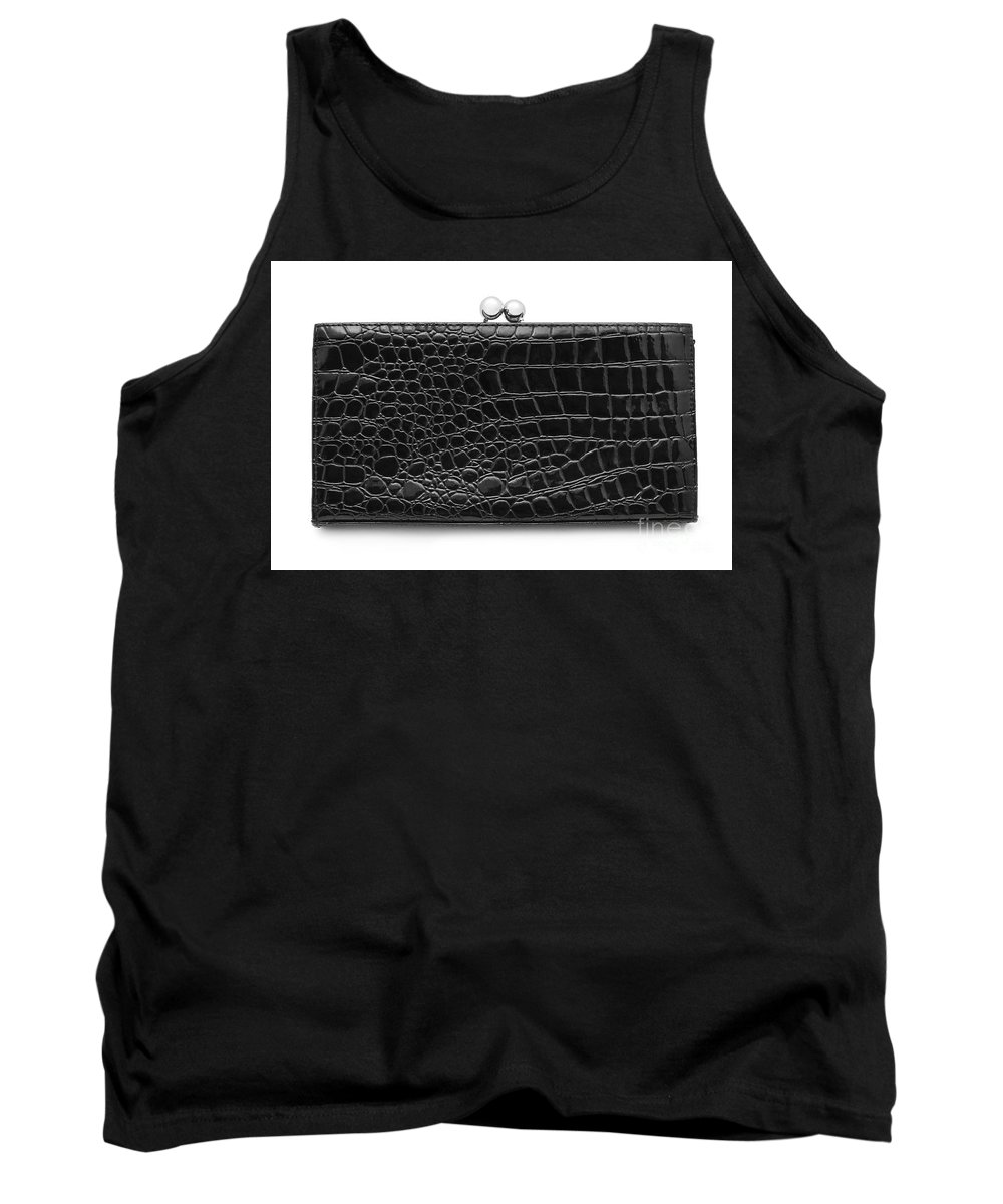 Reptile Tank Top featuring the photograph Leather Purse by Cristian M Vela