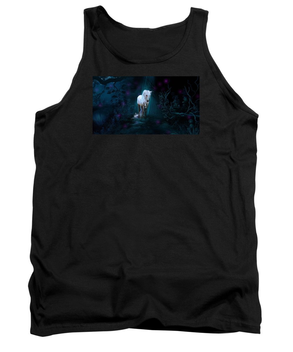 Arab Horse Tank Top featuring the digital art Left Alone by Kate Black