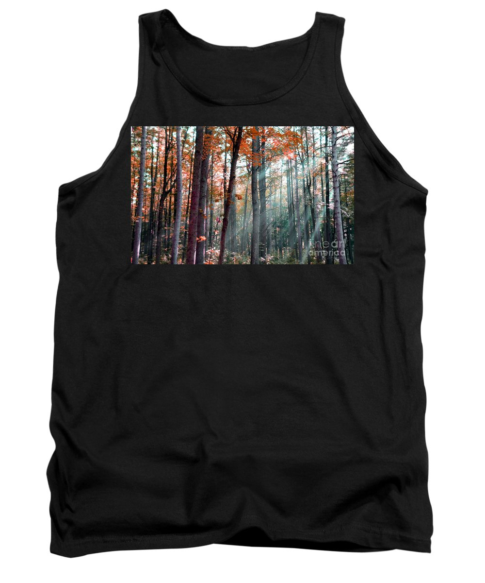 Light Tank Top featuring the photograph Let There Be Light by Terri Gostola