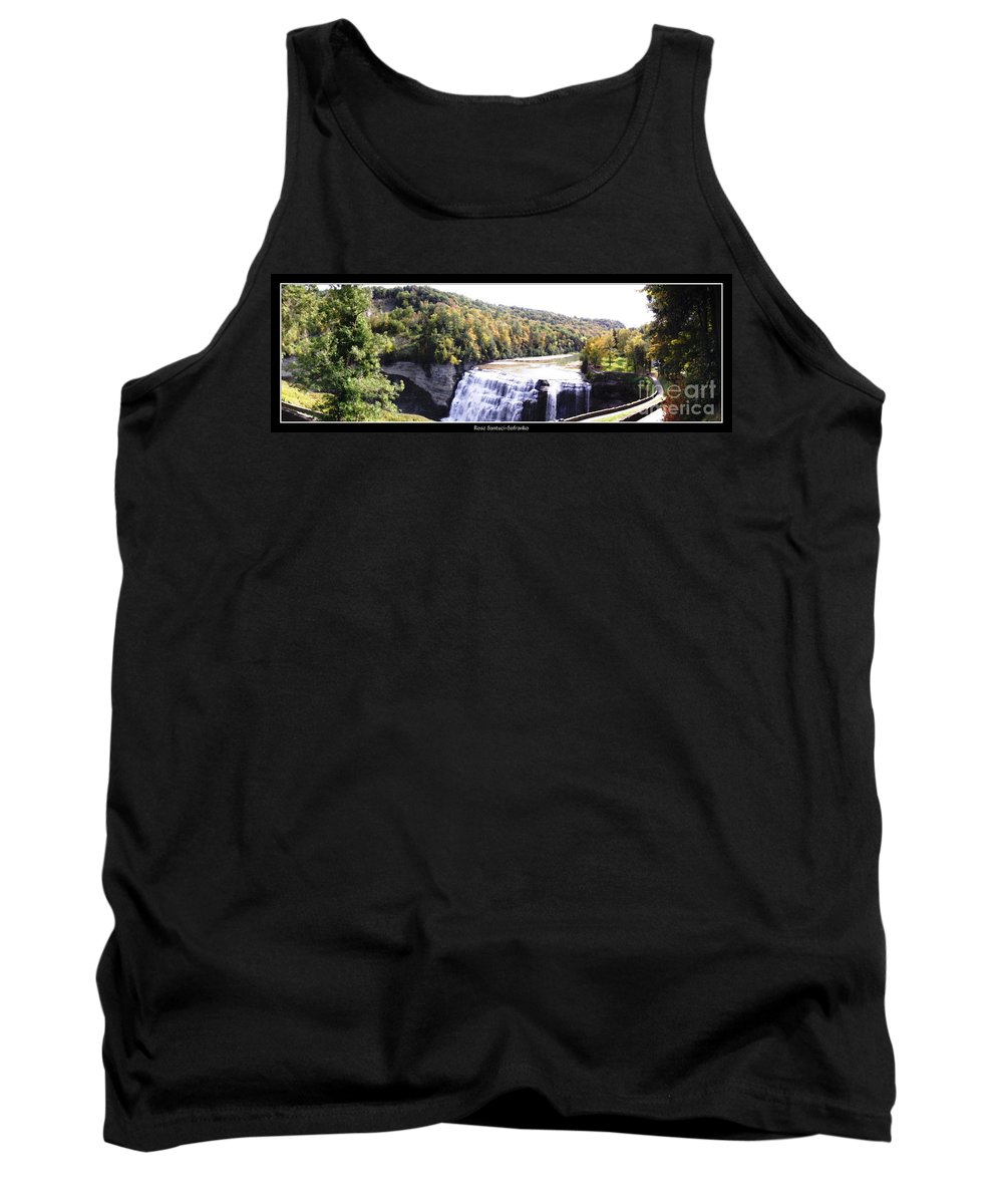 Letchworth State Park Tank Top featuring the photograph Letchworth State Park Middle Falls Panorama by Rose Santuci-Sofranko