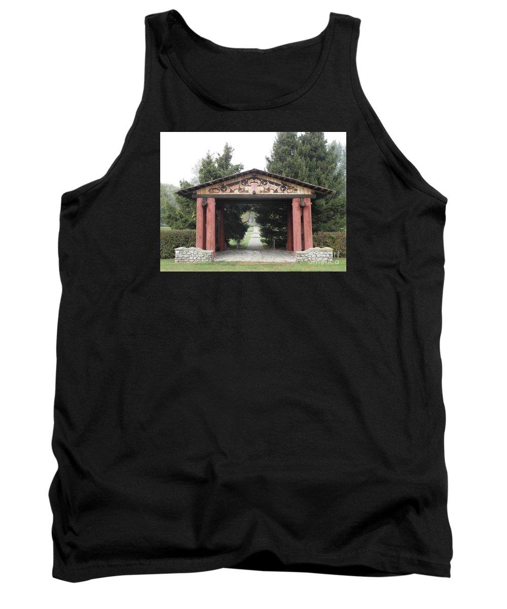 Lheit-li Tank Top featuring the photograph Lheit-li Nation Burial Grounds Entrance by Vivian Martin