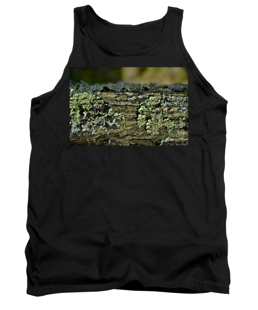 Closeup Tank Top featuring the photograph Lichen Macro I by Debbie Portwood