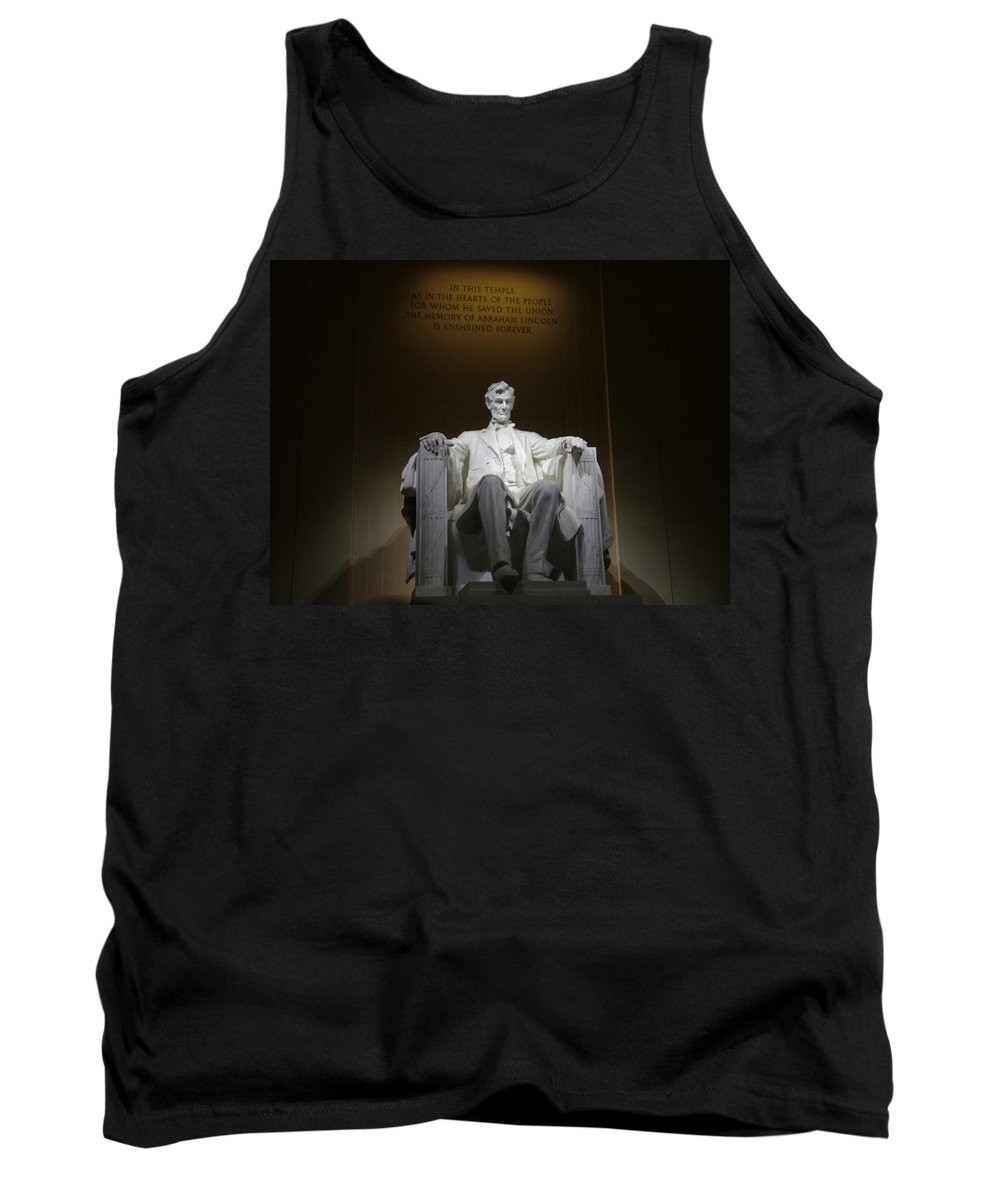 Abraham Tank Top featuring the photograph Lincoln Memorial by Geoffrey McLean