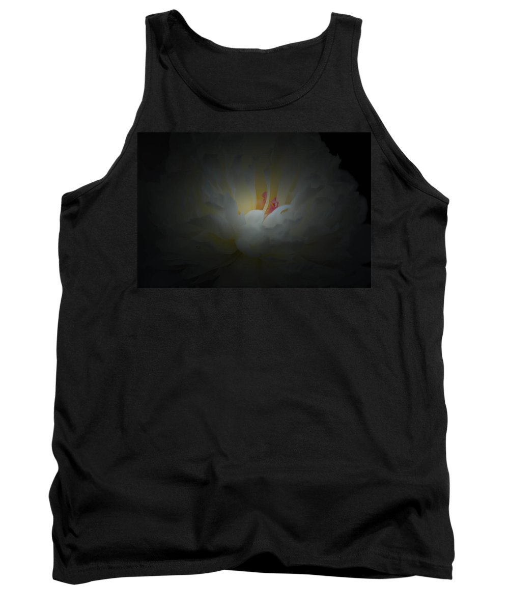 Peony Tank Top featuring the photograph Peony Light And Darkness by Sherman Perry