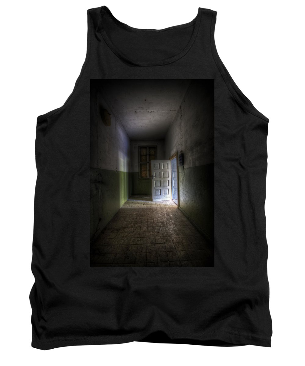 Forgotten Tank Top featuring the digital art Light At The End by Nathan Wright