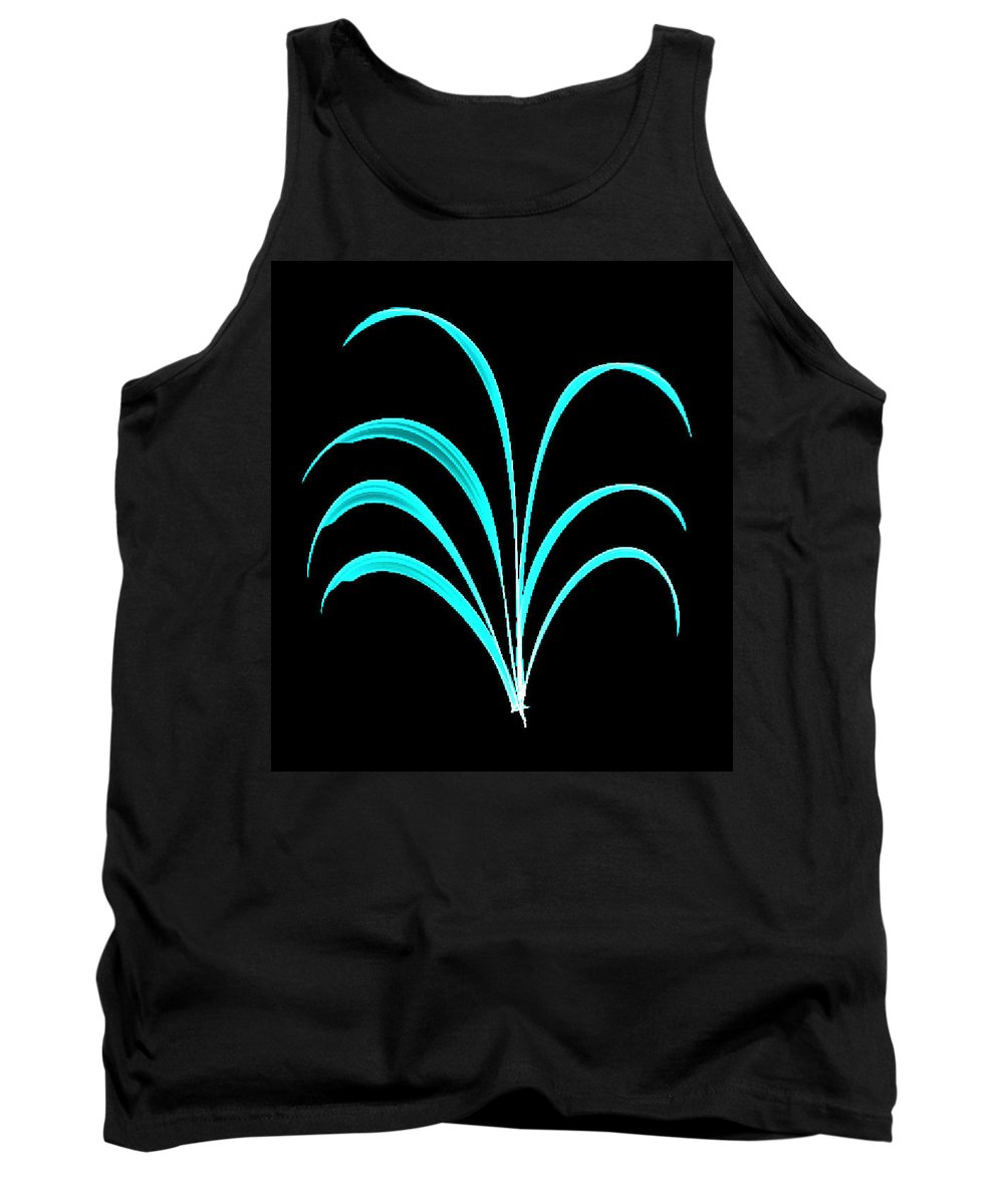 Light Tank Top featuring the painting Light Blue Floral Creation by Bruce Nutting